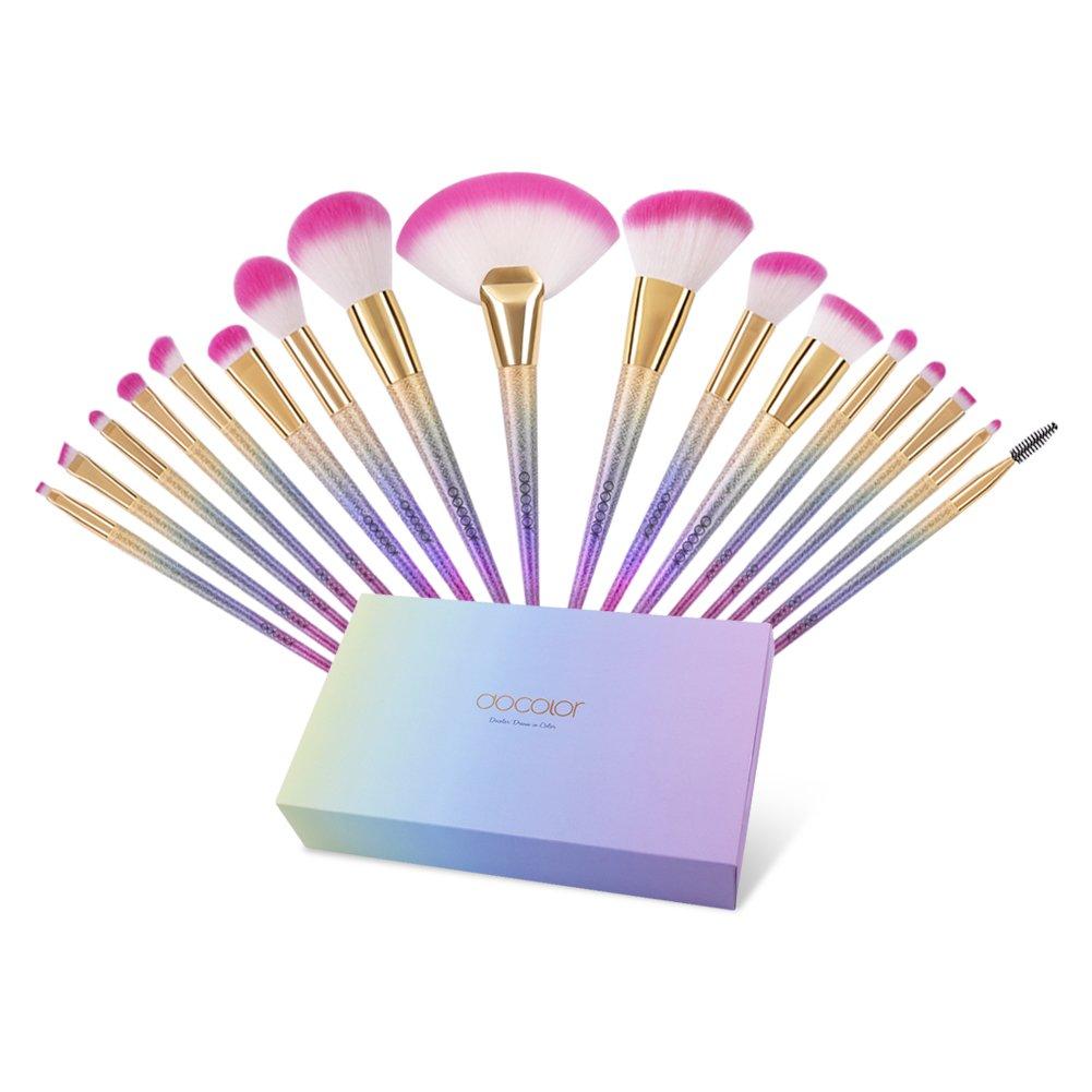 Docolor Colorful Rainbow Makeup Brushes 1Pcs Kabuki Flat Contour Trimming Brush Face Makeup Cosmetic Tool … Belle Xixi DB03