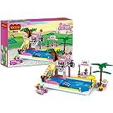 COGOブロック オモチャ フレンズシリーズ プール 水泳 BBQ スライド パーティー 女の子 ビーチチェア 知育玩具 誕生日 プレゼント 302pcs COGO4514