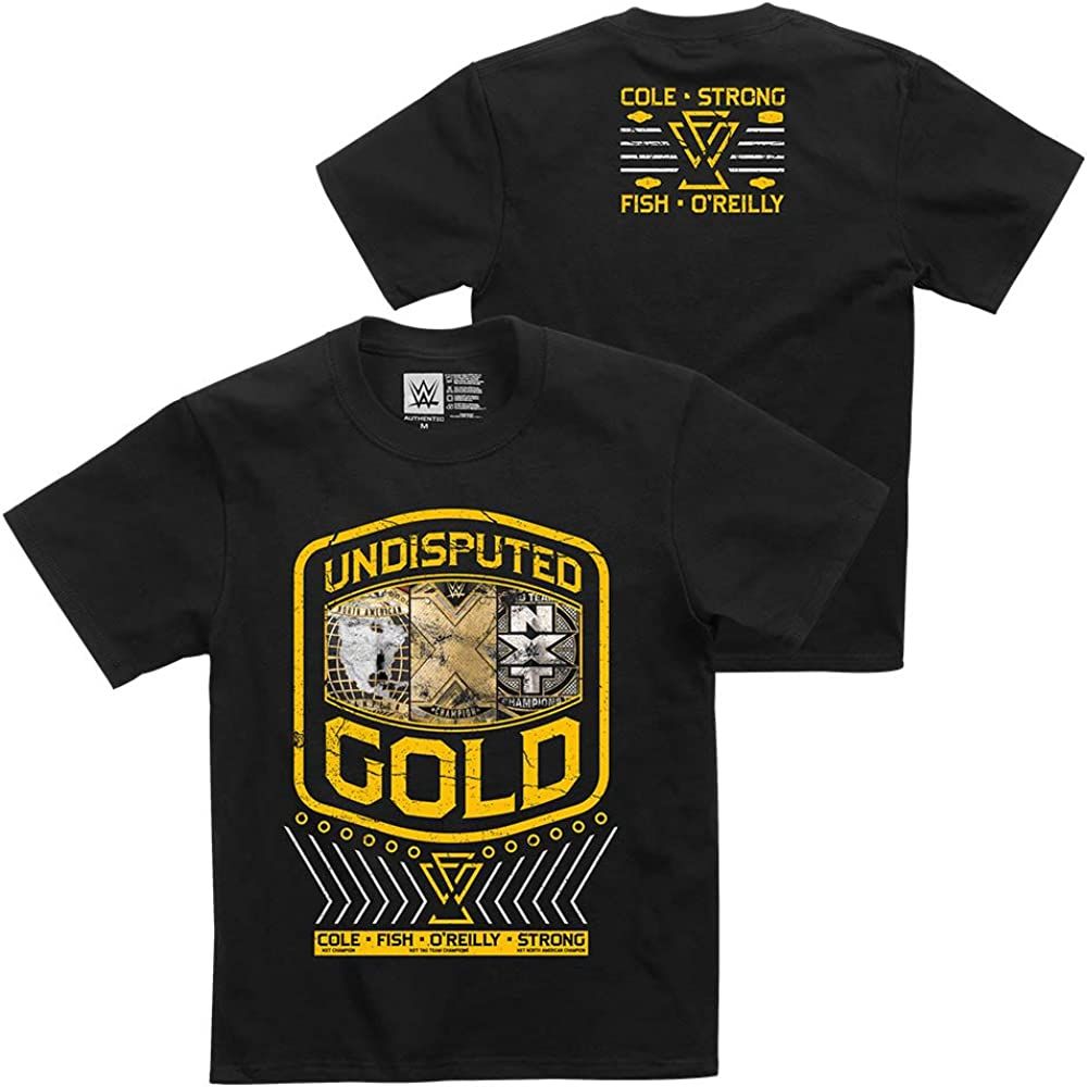 WWE Undisputed Era Undisputed Gold Youth Authentic T-Shirt