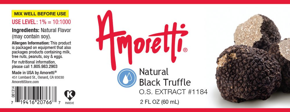 Amoretti Natural Black Truffle Extract, 2 Ounce