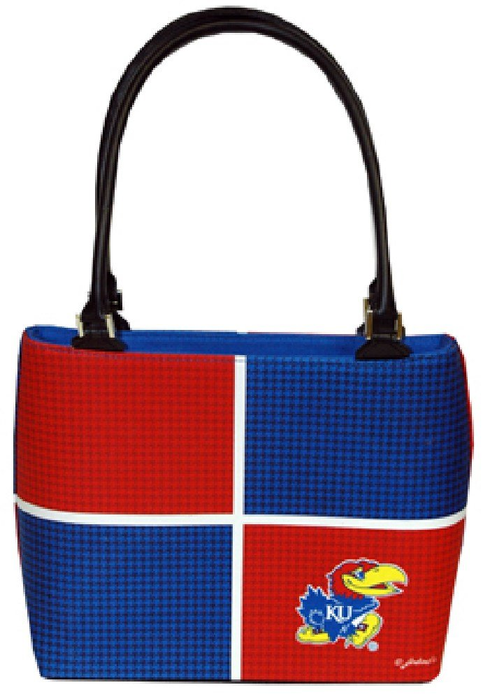 NCAA Kansas Jayhawks Ladies Color Block Purse
