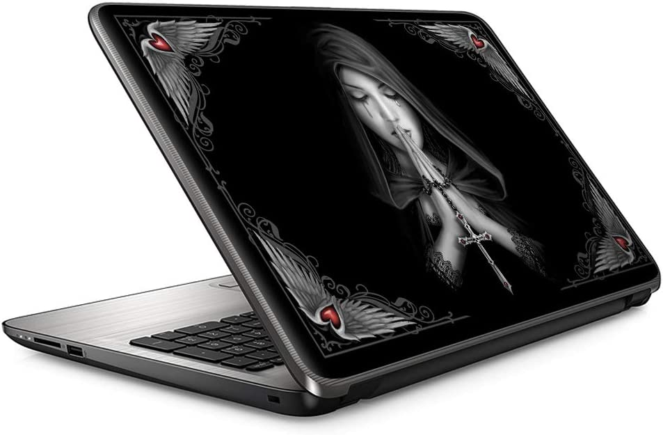 "Anne Stokes Gothic Prayer Hands | 15"" 15.6"" Custom Fit Made to Order Laptop Notebook Skin Vinyl Sticker Cover Decal Fits HP Lenovo Apple Mac Dell Compaq Asus Acer"