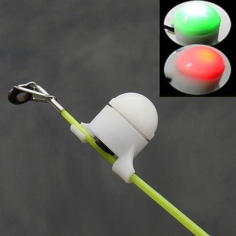 QIND - Campana de Alarma LED para Pesca, luz Nocturna, Intermitente, Señal de Sonido Intermitente, Caña de Pescar, Señuelo, Alarma, Caña de Pescar