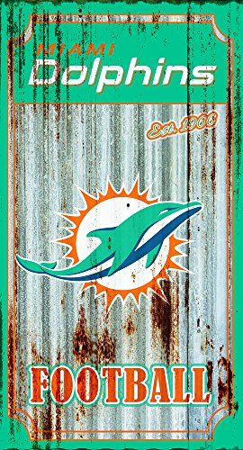 - Evergreen Team Sports America Miami Dolphins Corrugated Metal Wall Art