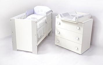 Babyzimmer De Luxe Weiss Grau Sparset Incl Babybett