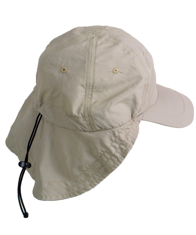 Kopf und Ohren Relags Legion/ärskappe Supplex Outdoorkappe mit Sonnenschutz f/ür Nacken