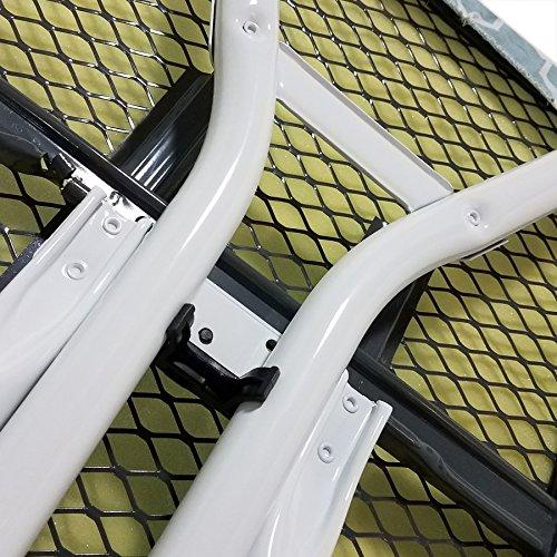 Homz 4-Leg Steel Top Ironing Board, Blue Lattice Cover