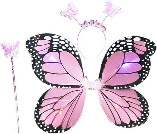 Amosfun 3 Piezas Set de Disfraz de Mariposa de Niñas Alas de ...