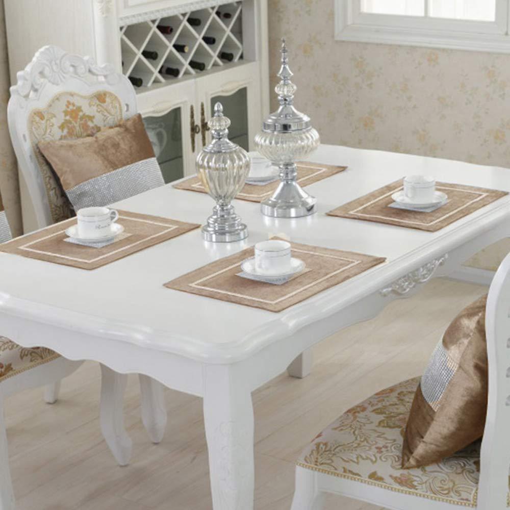 Velours Table Set Argente Sets De Table Napperons Avec Strass