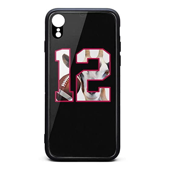 reputable site 58833 4cbef Amazon.com: iPhone XR Case Football Player Goat 12 Ultra-Thin Back ...