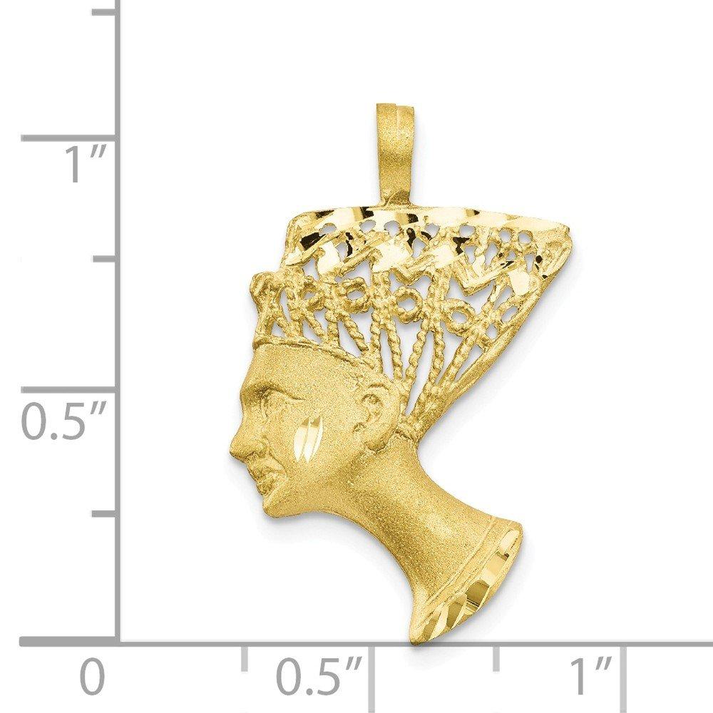 Pendants Travel and Transportation Charms 10K Yellow Gold Egyptian Nefertiti Head Charm Pendant