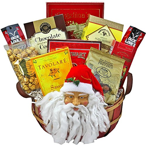 Santa's Favorite Snacks and Treats Christmas Holiday Gift Basket (Christmas Gift Arrangements)