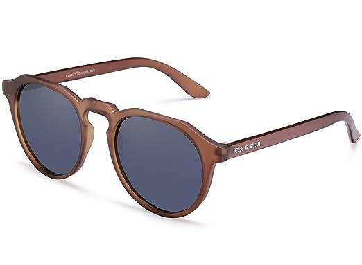 Carfia Retro Sonnenbrille TR90 Polarisierte Sonnenbrille für Damen und Herren, 100% UV400 Schutz