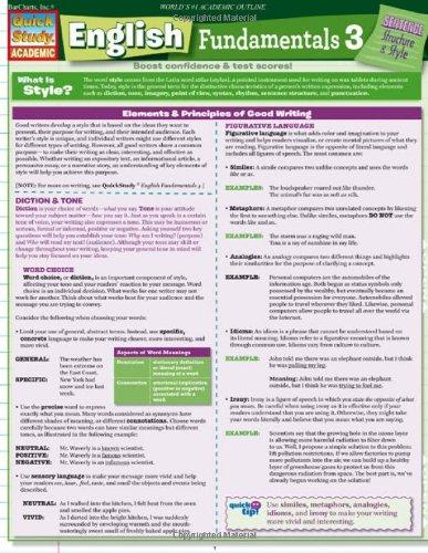 Download English Fundamentals 3 (Quick Study Academic) pdf epub