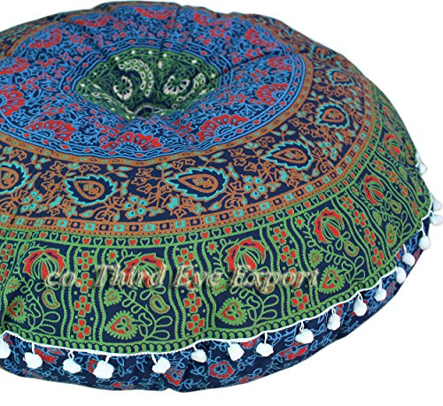 Third Eye Export - 32 In Mandala Barmeri Large Round Floor P