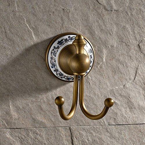 GUMA Wall Mount Bathroom Bath Shower Antique Brass Finish Solid Brass Robe Hooks (Series 1-3) by GUMA
