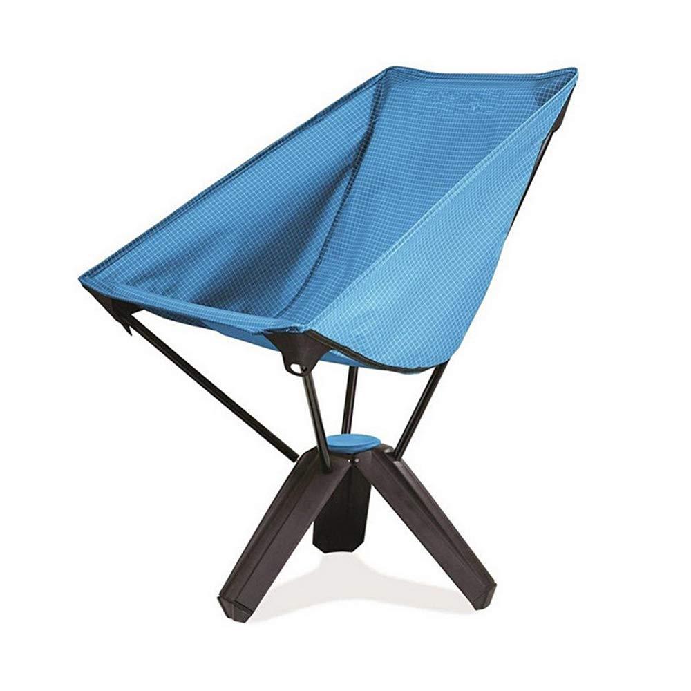 Klappbarer Campingstuhl Ultralight Folding Backpacking Stühle Portable Camping Stuhl mit Tragetasche für Angeln Wandern Strand im Freien (Farbe   Blau)