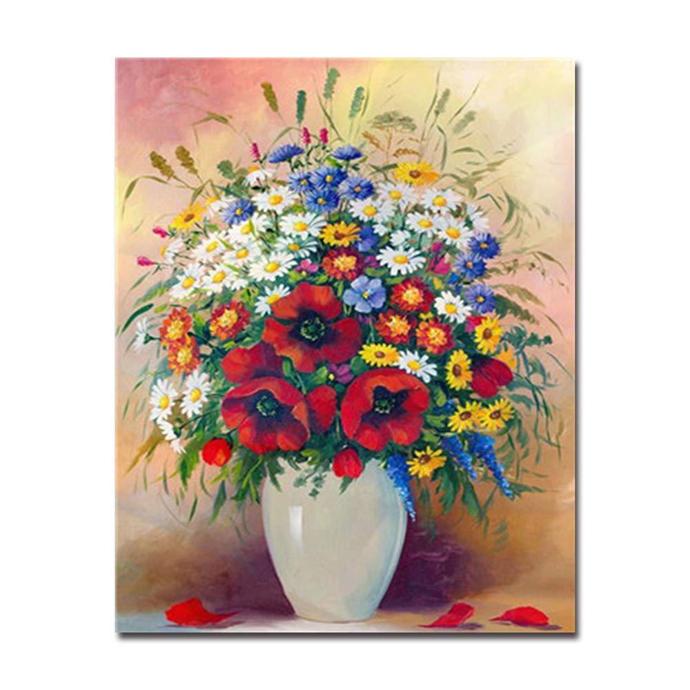 hasta 60% de descuento 40x50cm Diy Frame Frame Frame NGDDXTG DIY Pintura al óleo por números Kits Pintados a Mano Lienzo Hermoso Colorido Flores Fotos decoración para el hogar Arte de la Parojo Paisaje artesanía  venderse como panqueques