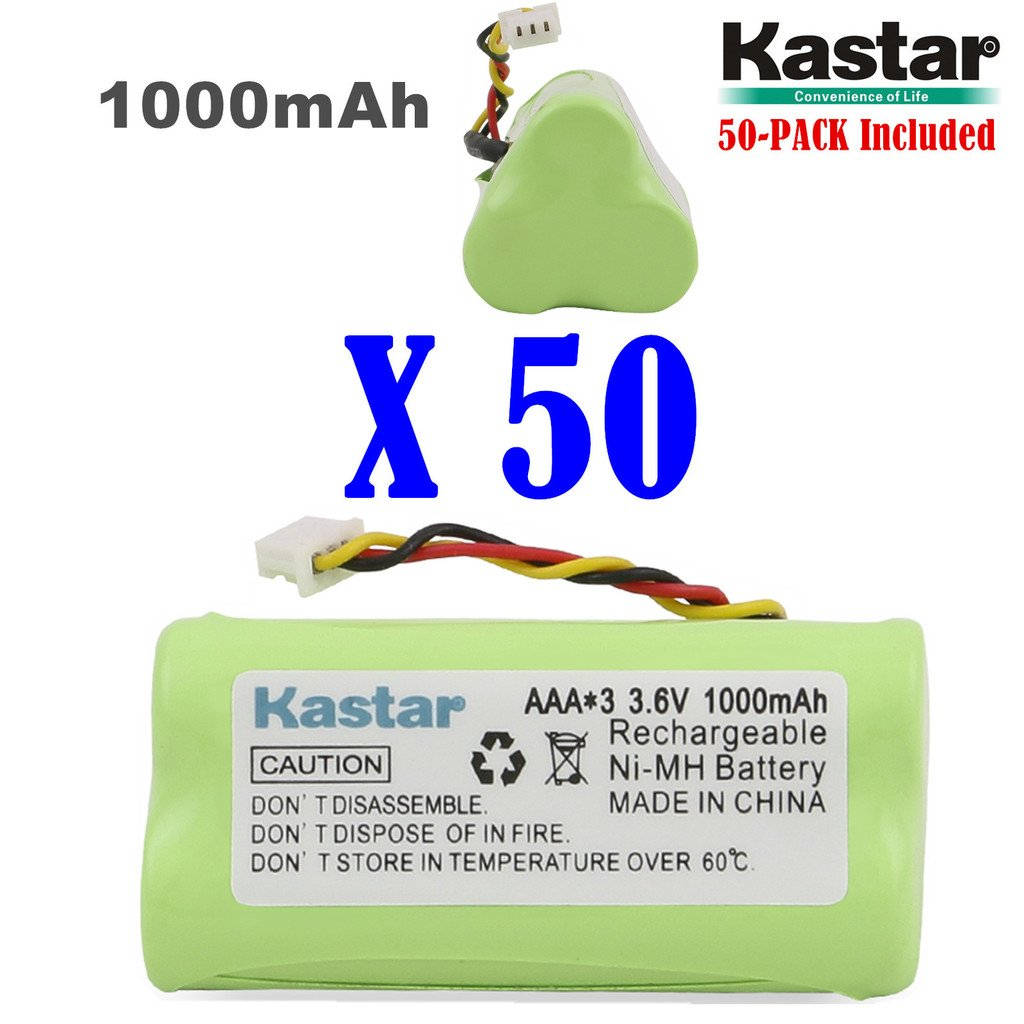 Kastar 50-PACK AAA 3.6V 1000mAh Ni-MH Rechargeable Battery Replacement for Zebra/Motorola Symbol 82-67705-01 Symbol LS-4278 LS4278-M BTRY-LS42RAAOE-01 DS-6878 Cordless Bluetooth Laser Barcode Scanner