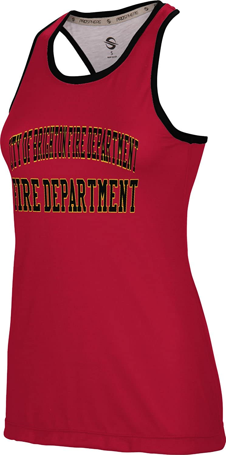 Women's City of Brighton Fire Department Crisscross Loose Training Tank