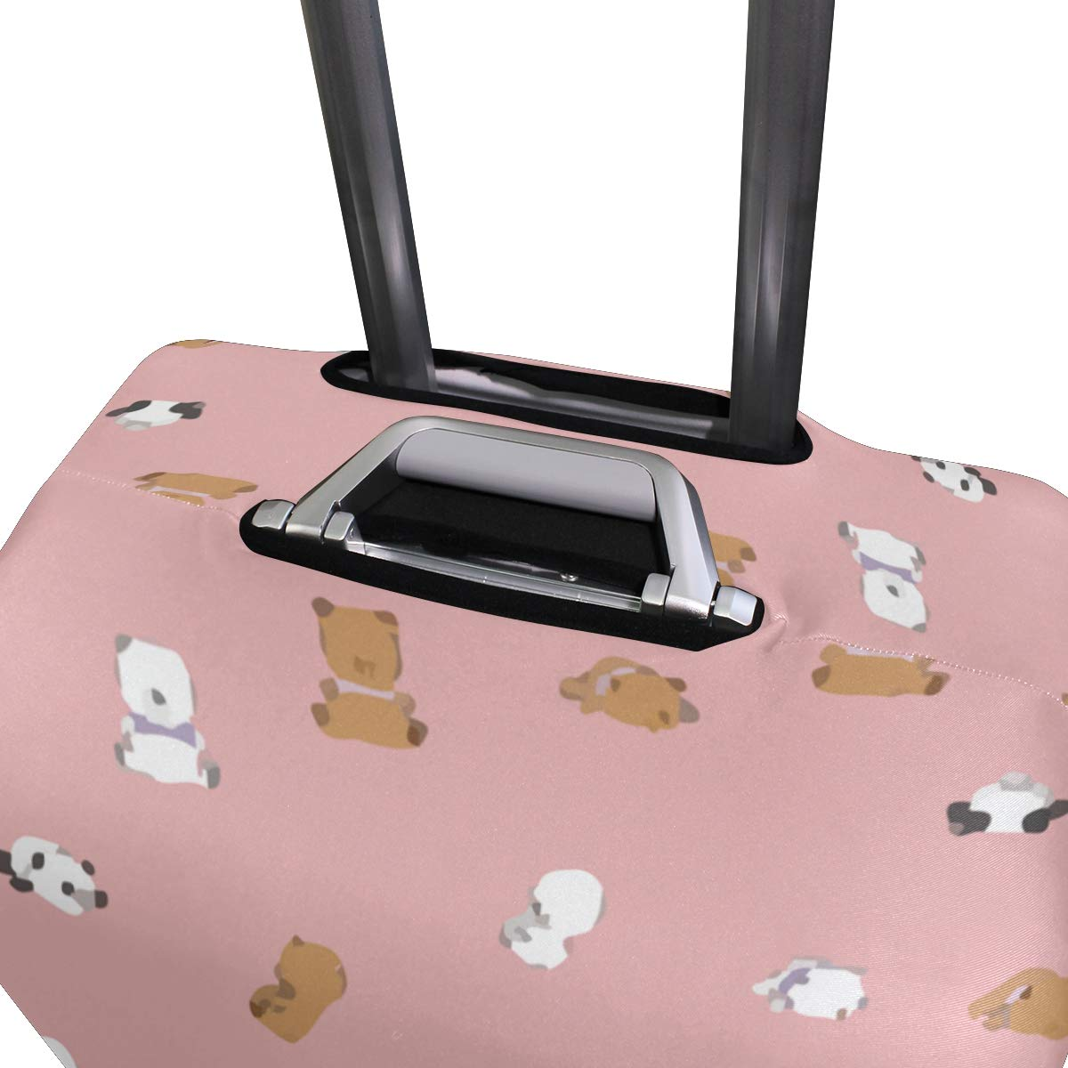 Giant Kawaii Panda Sits Quietly Travel Suitcase Protector Zipper Suitcase Cover Elastic