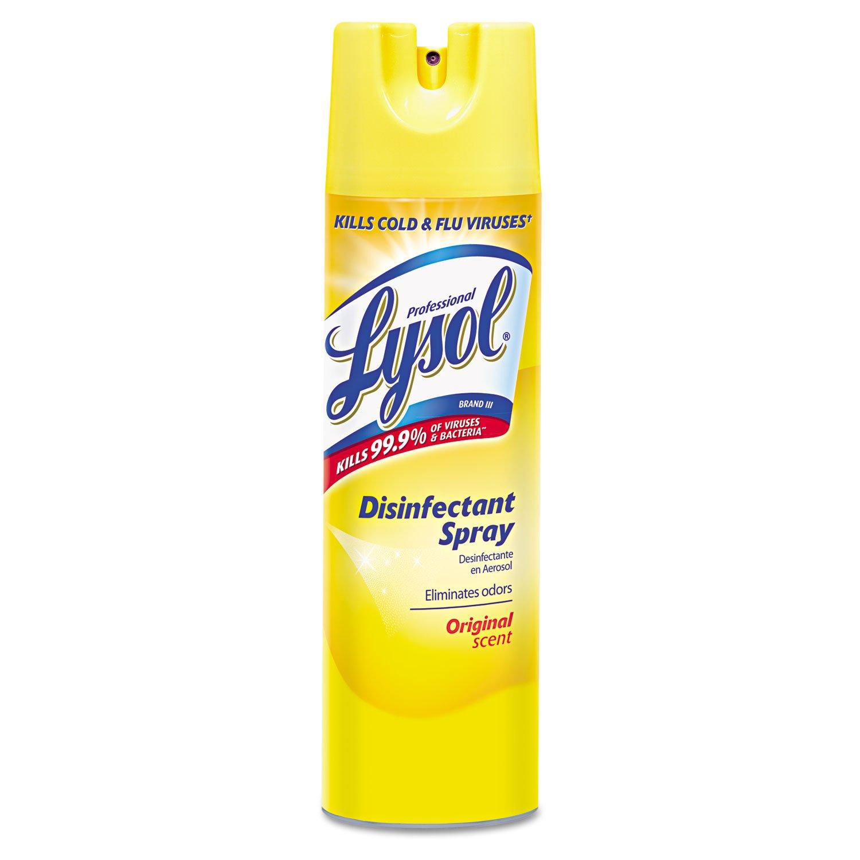 RECKITT BENCKISER PROFESSIONAL 04650CT Disinfectant Spray, Original Scent, 19 oz Aerosol, 12 Cans/Carton