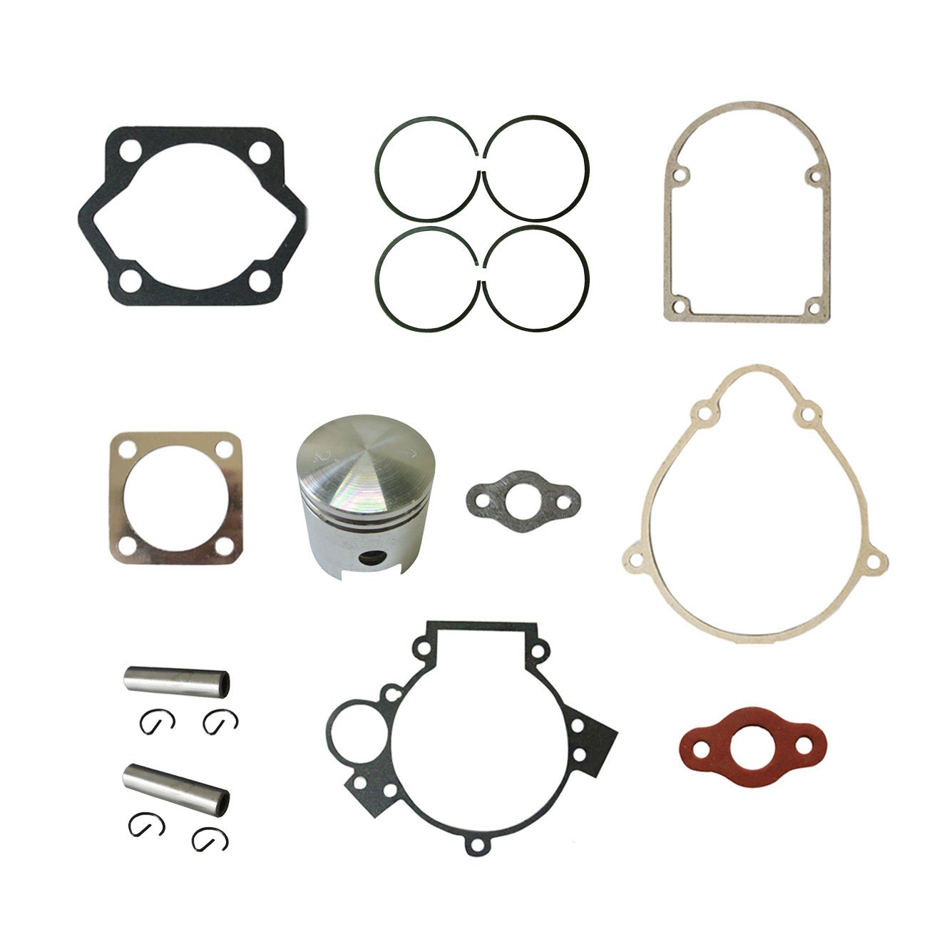 2*Gasket Set/&30xSquare Clutch Pads For 80cc Motorized Bicycle Bike Motor Engine