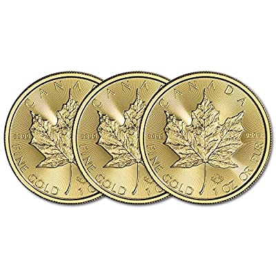 CA 2017 Canada Gold Maple Leaf (1 oz) THREE (3) Brilliant Uncirculated
