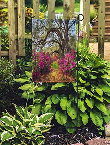 (Semtomn Outdoor Decorative Garden Flag South Carolina Spring Flowers Charleston Sc Lowcountry Scenic Nature House Yard Flag 28