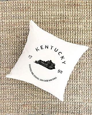 Athena Bacon Pillowcase Decor Cover Kentucky State Housewarming Gift New Home Gift New Homeowner Cabin Lakehouse Modern Farmhouse Gift for Him