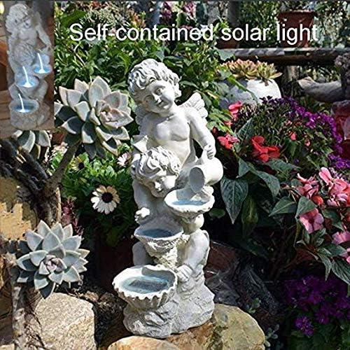 Estatuas para jardín Ángel Lámpara Solar - Jardín Esculturas Solar Powered Luces Animal Figurita para Los Ornamentos Al Aire Libre Patio Balcón Jardín White-H:38*W:16*L:17CM: Amazon.es: Hogar