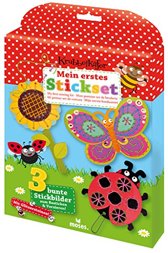 Moses. Verlag GmbH 16103Crawling Bug Baby's First Table Set with Glitter Stickers Gift for 5Year Old +, -