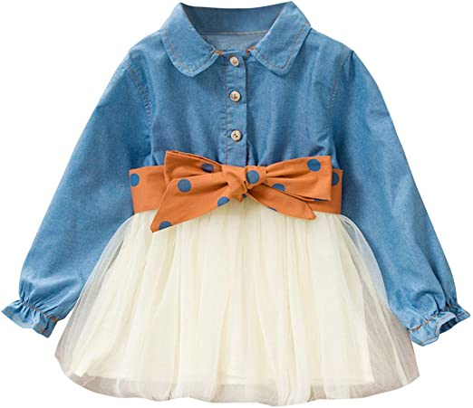 Toddler Kids Baby Girl Letter Bow Tutu Tulle Dress Thanksgiving Outfits Clothes