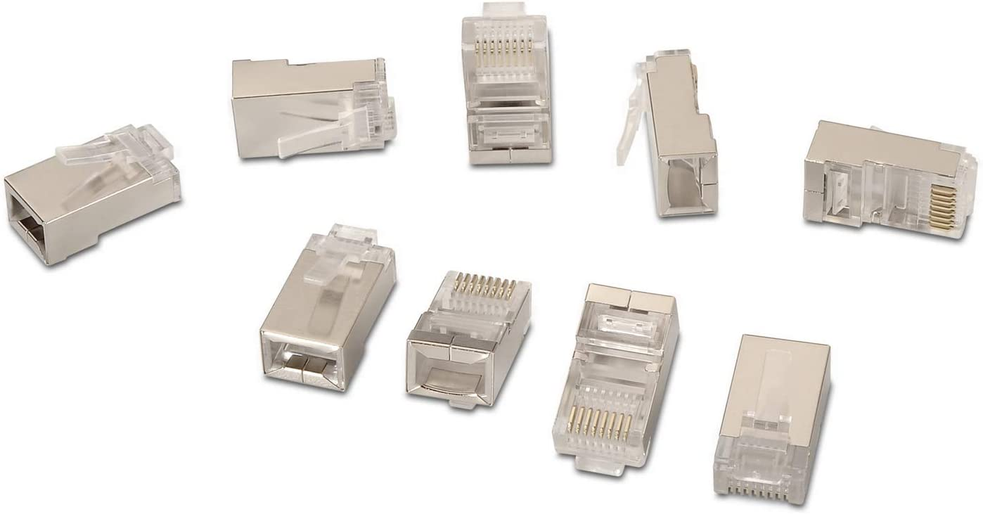 /0298/ 10/Pcs Silver AISENS A139/ /RJ45/Connector 8/Threads FTP