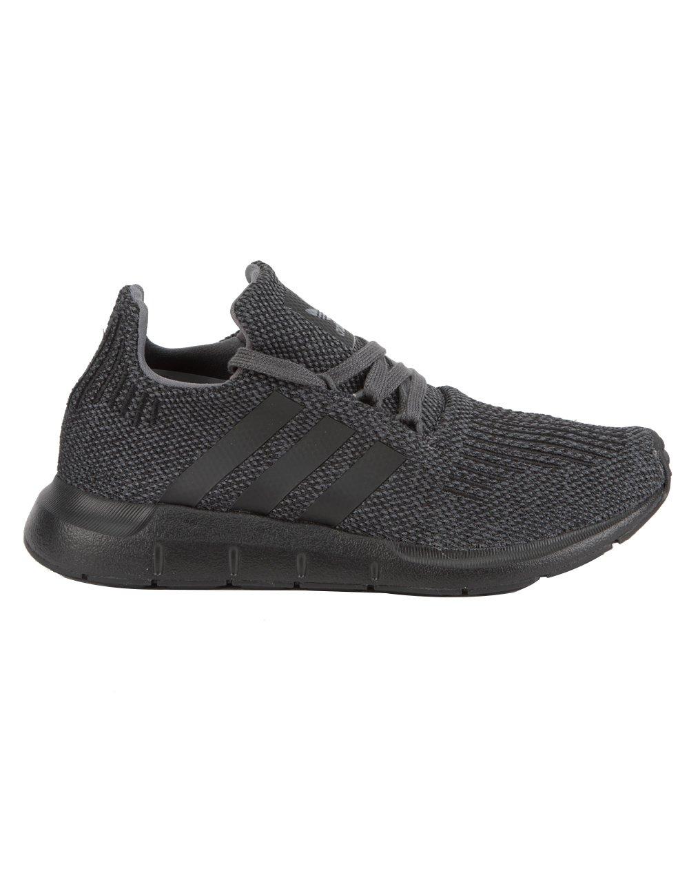 adidas Originals Kids Boy's Swift Run (Big Kid) Grey/Black/Black 3.5 M US Big Kid
