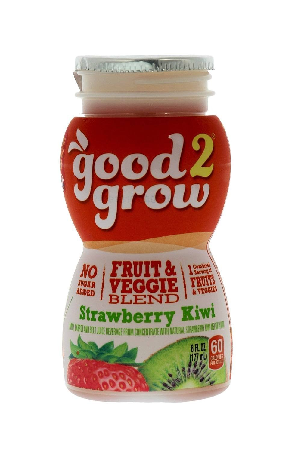 good2grow Fruit & Veggie Blend – Strawberry Kiwi 6oz Refill Drink Bottles Pack, 24 Count - No Sugar Added, An Excellent Source of Vitamin C - Use with Collectible Spill-Proof Topper Characters by good2grow (Image #4)