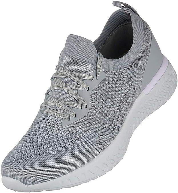 Zapatillas Running Hombre Zapatos para Correr Cordones Cómodos ...