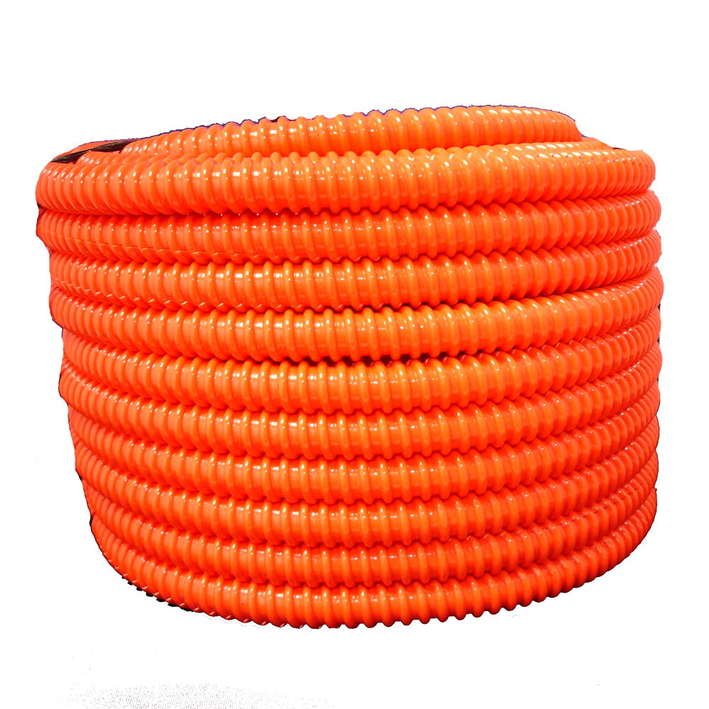 HydroMaxx Flexible Corrugated PVC Non-Split Tubing and Convoluted Wire Loom - UV Stabilized - Rated for Outdoor Use (1 1/2'' dia x 50 ft, Orange)