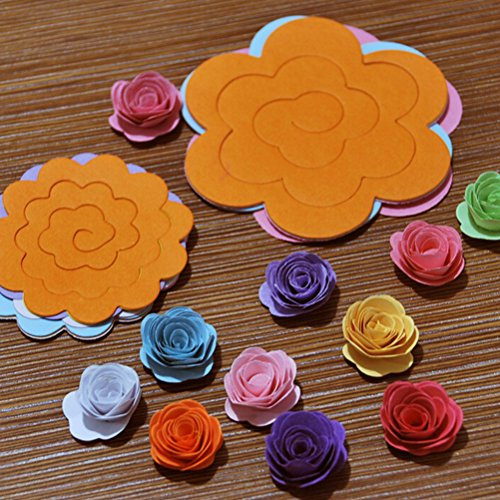 Materials Diy - 22pcs Lot Paper Quilling Flowers Rose Diy Handmade Material Two Sizes Wholesale - Petals Blue Skirt Backdrop Bracelet Knob Pearl Women Earrings Photo Phone Lamp Holder Antler N ()