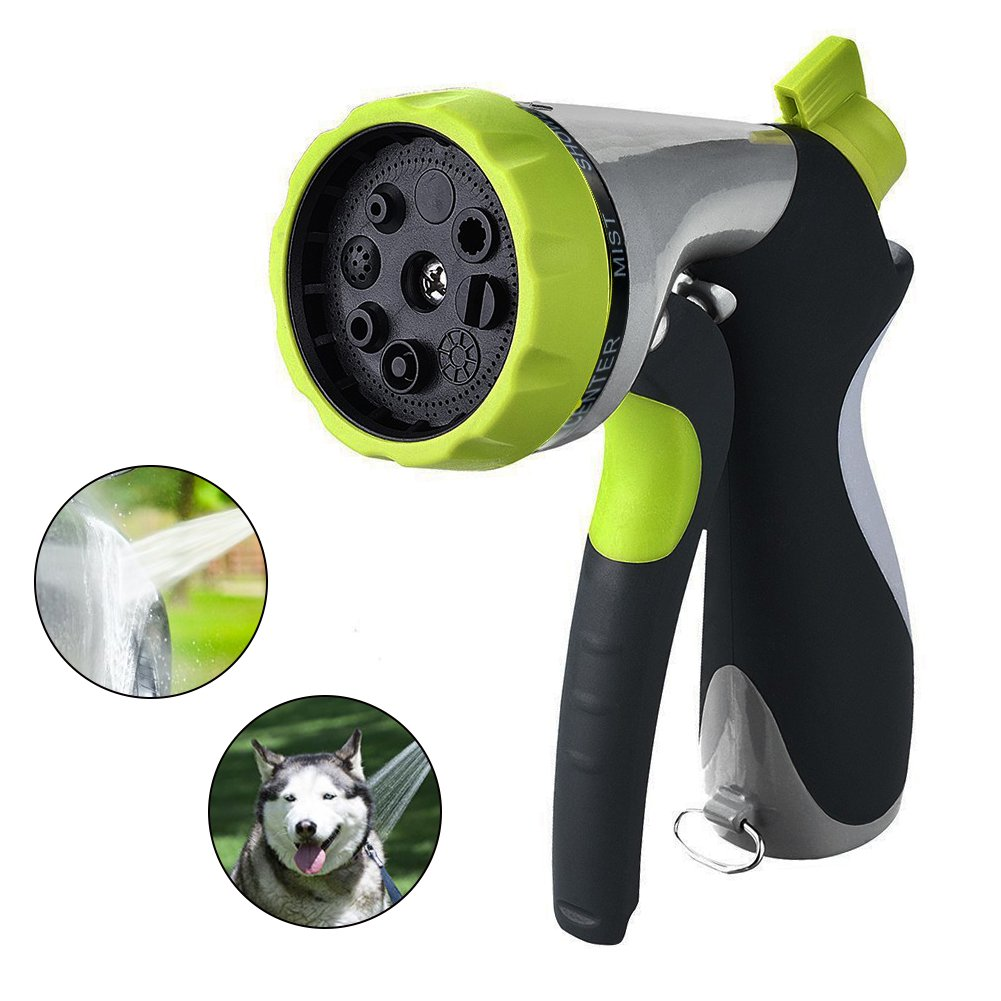Pistola per irrigazione Patterns spruzzatore regolabile ugello spray, tubo da giardino, metallo acqua ugello con Heavy Duty 8  regolabile irrigazione Patterns, verde metallo acqua ugello con Heavy Duty 8 regolabile irrigazione Patterns SUPEWOLD