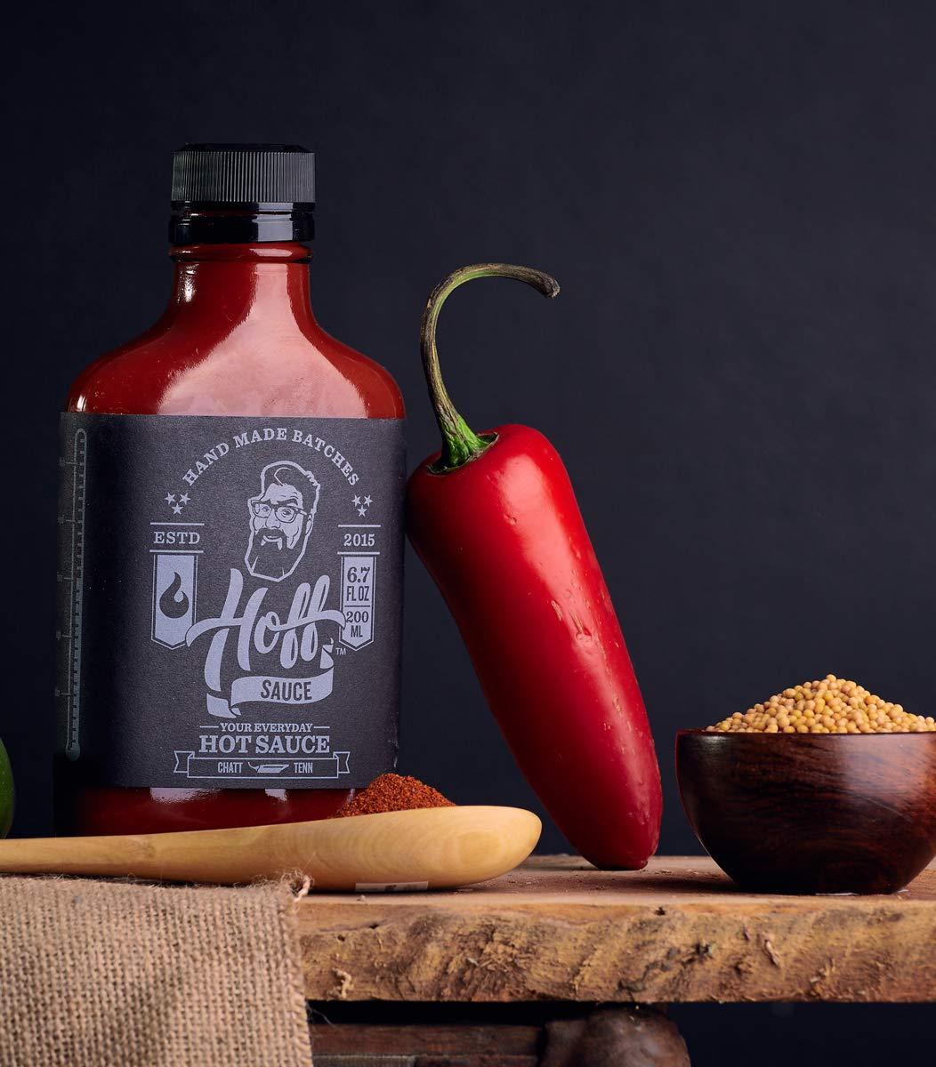 Hoff Sauce - Hoff's Award Winning Louisiana Style Hot Sauce - 6.7oz Flask