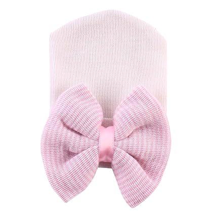 TININNA Unisexe Bonnets Nouveau né Laine Crochet Papillons Chapeau Bébé  Garçon Fille Naissance Tricot Hat Cap e3983aa1094