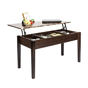 Amazon Com Sailsword Lift Top Coffee Table Wood Modern Desk With