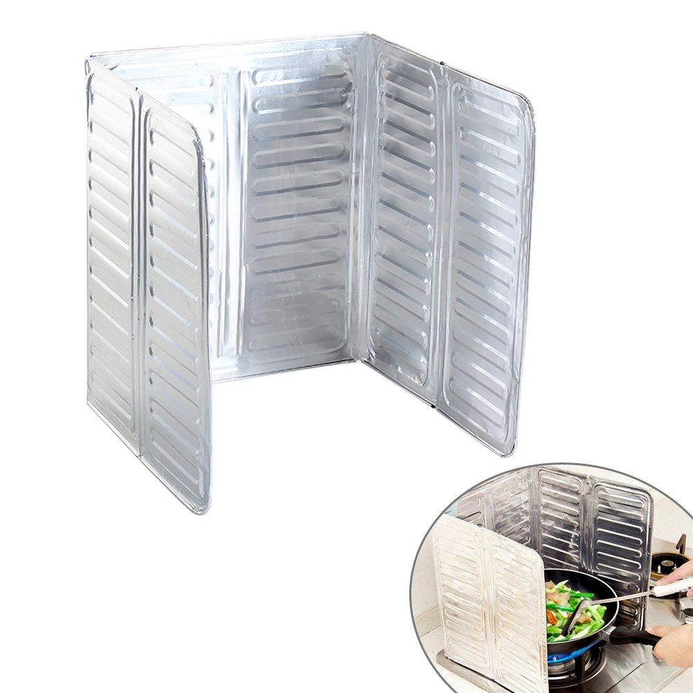 Kitchen aluminum oil anti splatter shield guard (84* 32.8 inches) EQLEF®