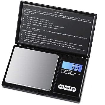 AZX Mini Básculas Digital de Bolsillo, Escala de Bolsillo de Precisión,200g 0.01g