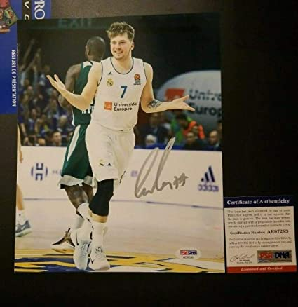 a8951dbd Luka Doncic Autographed Signed Memorabilia 8x10 Photo Real Madrid Dallas  Mavericks Proof PSA/DNA