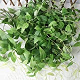 dezirZJjx Artificial Plants Refreshing Artificial Fake Clematis Leaves Wedding Party Home Room Garden Decor - Green