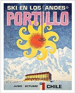 Ski in Los Andes Portillo Vintage Ski Poster