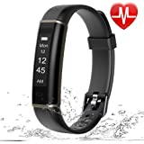Letsfit Fitness Tracker HR, Pedometer Watch, Intelligent Activity Tracker, Heart Rate Monitor, Sleep Monitor, Step Counter, Step Tracker, Slim Smart Watch for Kids Women Men