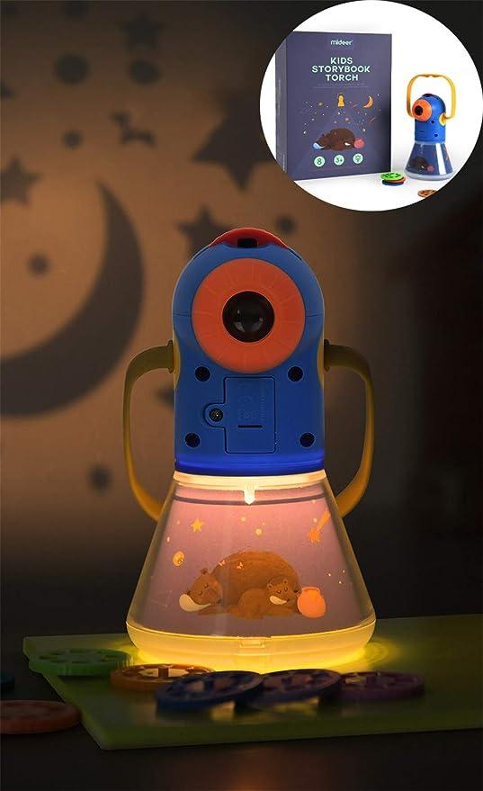 DevilLover Multifuncional Proyector lámpara Tiempo Material ABS ...